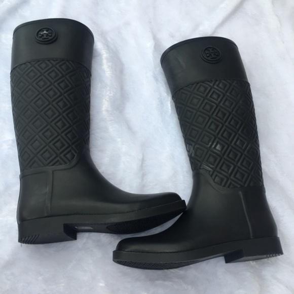 9291d31cfcd5b4 Tory Burch Marion Quilted Rain Boots. M 5b4fb8a7de6f62f325a1c53f